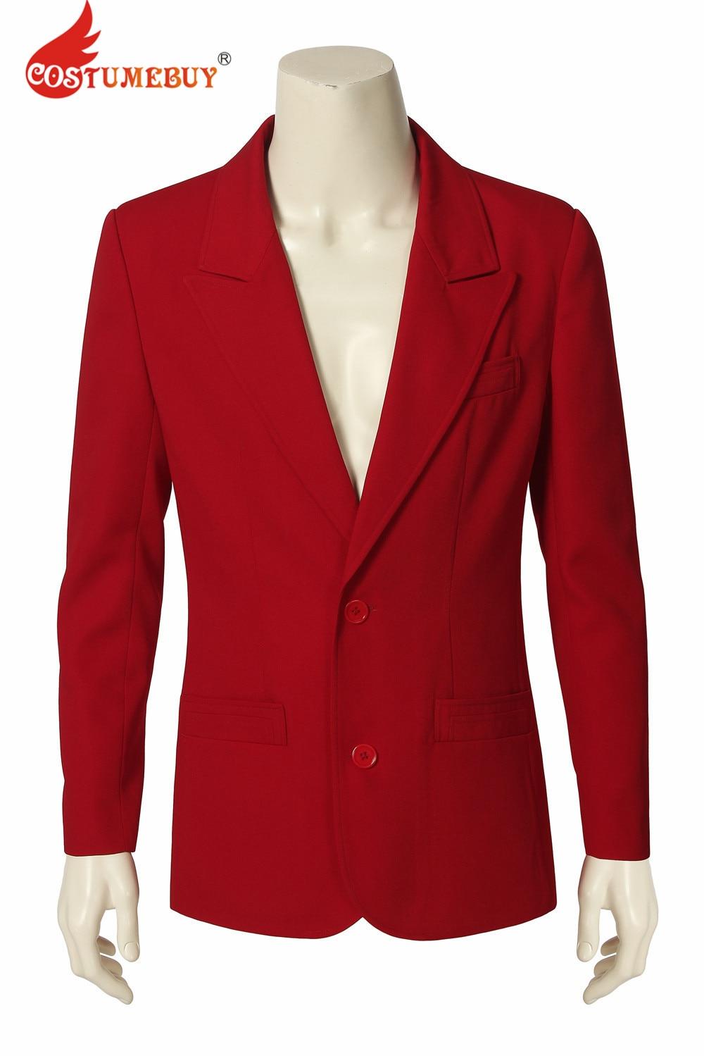 CostumeBuy Joker Origin Movie Romeo Cosplay Joaquin Phoenix Arthur Fleck Costume Jacket Red Coat Uniform Men Halloween Outfit