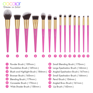 Image 5 - Docolor 14 個美容メイクブラシセット化粧品 · ファンデーション · パウダーアイシャドウ眉毛リップブラシキット Maquiagem