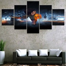 Canvas Paintings Wall Art HD Printed Poster 5 Pieces Minecraft Battlefield 3 Game Pictures For Living Room Home Decorative цена