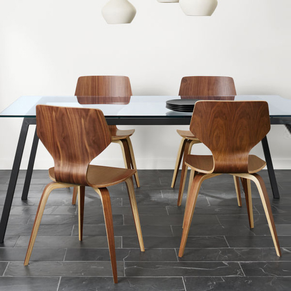 Nordic dining chair modern minimalist home solid wood back curved wooden chair cafe design creative restaurant chairs