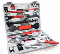 44PCS/ set Mountain Bike Patchs outdoor tool Bicycle Accessories Repair box diagnostic tools Kit Valuables Cycling Chain case