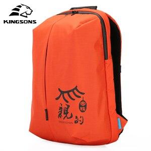 Image 1 - Mochilas de mujer Kingsons, diseño de patente, Mochila de 15 , bolso de escuela, bolsas de nailon de alta calidad Unisex, Mochila de viaje