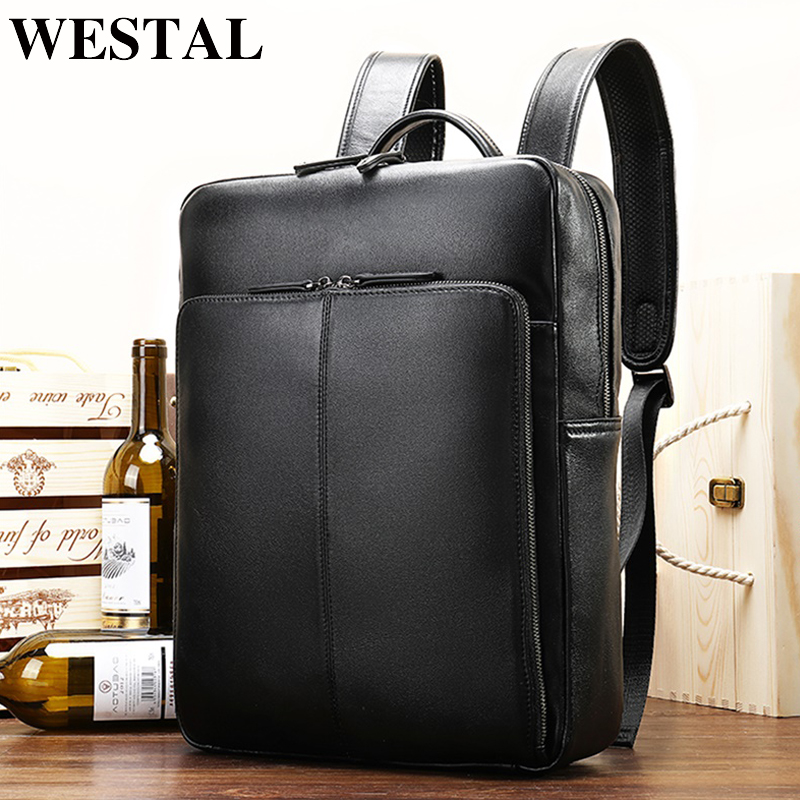 WESTAL genuine leather mens backpack casual shoolbag for ipad multi-function backpack for mens business shoulder daypack 7115WESTAL genuine leather mens backpack casual shoolbag for ipad multi-function backpack for mens business shoulder daypack 7115