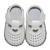 Niñas bebés zapatos t-correa de cuero genuino únicos zapatos del niño suaves del pesebre zapatos blancos de plata zapato bebe recortes del corazón al aire libre de interior