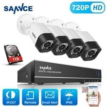 SANNCE 8CH 1080N HDMI DVR KIT 720P HD CCTV Security Camera System 4PCS 1200TVL CCTV Camera Set Surveillance Kit 1TB HDD