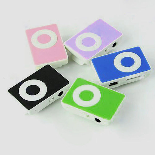 HOT 2016 New Colorful Mini Clip  MP3 Player Support 1-8GB Micro SD TF Memory Card no accessories
