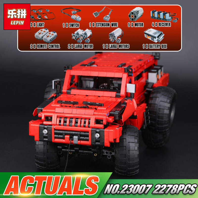 Lepin 23007 2278Pcs Genuine Technic MOC Series The Marauder Set Children Educational Building Blocks Bricks Toys Model Gift 4731 lepin 20076 technic series the mack big