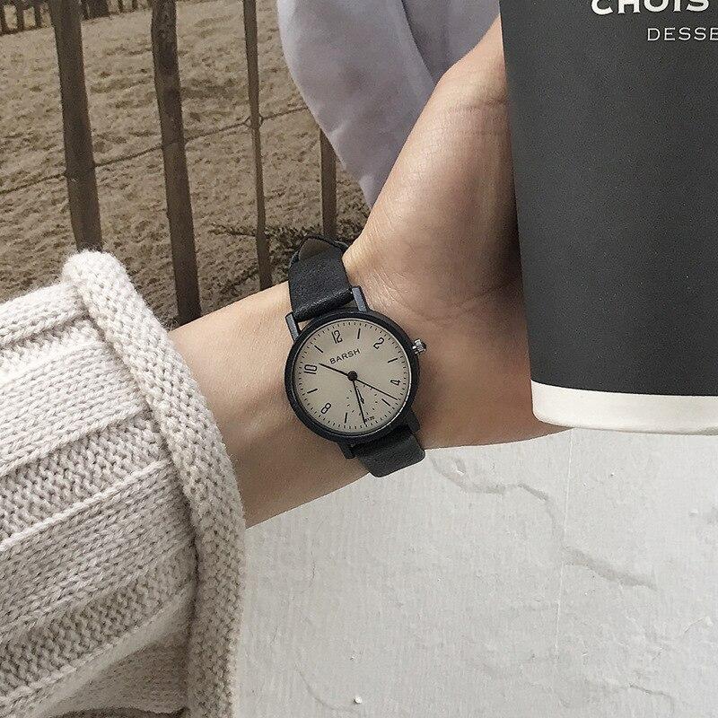 Women's Watches Fashion Brand Vintage Leather Quartz Watch Women Simple Woman Clock Casual Ladies Wristwatches Montre Feminino