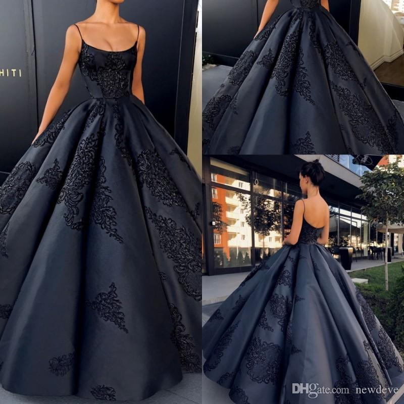 2019 Backless Mother Of The Bride Dresses Appliques Prom Dress Spaghetti Strap Custom Made Ball Gown Evening Gowns
