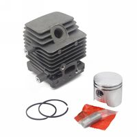Mayitr Dia 34mm Cylinder Piston Kit Ring For Chainsaw