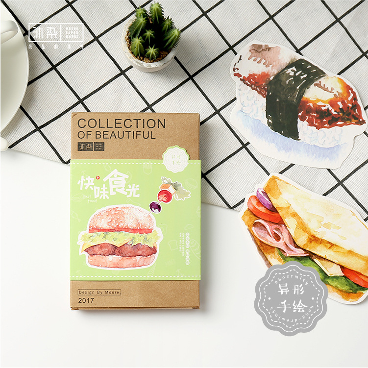 3 set/1 lot fast food Greeting Card Postcards Birthday Bussiness Gift Card Set Message Card W-KP-1388