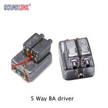 2 pçs bellsing 10025 motorista de armadura equilibrada 5 vias motorista gama completa receptor iem personalizado fone ouvido aparelho auditivo alto falante