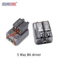 2PCS Bellsing 10025 Balanced Armature Driver 5 Way Driver Full Range Receiver IEM Custom Earphone Hearing Aid Speaker