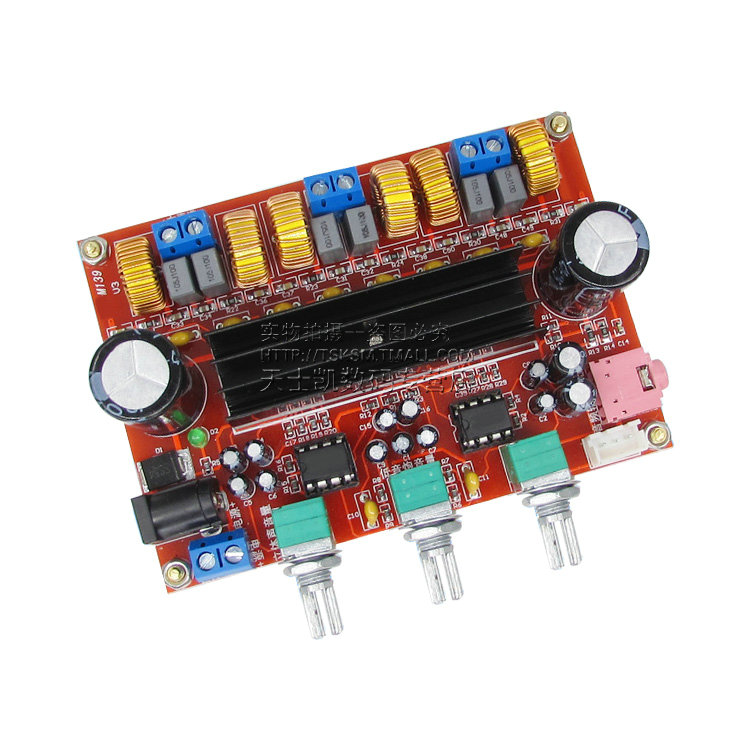 2.1 channel digital power amplifier board 12V-24V wide voltage 2*50W+100W TPA3116D2 power amplifier module купить