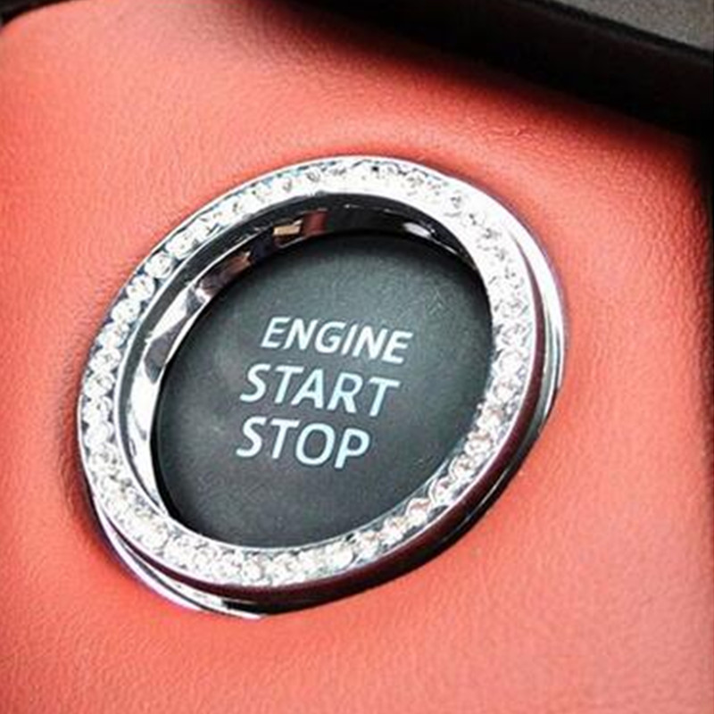 <font><b>car</b></font> Ignition keyhole ring decoration Cover for <font><b>bmw</b></font> <font><b>e90</b></font> ford ecosport volvo s40 renault megane 2 hyundai i30 w204 Accessories image