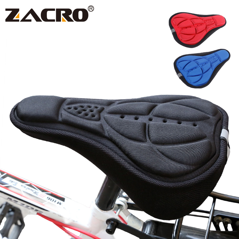 Zacro Bicycle Saddle 3D Soft Bike Seat Cover Comfortable Foam Seat Cushion Cycling Saddle for Bicycle Bike Accessories