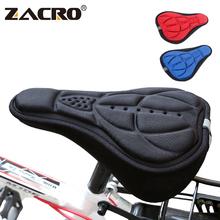 Zacro siodło rowerowe 3D miękki pokrowiec na siodełko rowerowe wygodna piankowa poduszka do siedzenia siodełko rowerowe do rowerów akcesoria rowerowe tanie tanio Przednim siedzeniu maty Włókno węglowe 28 5cm x 17 5cm x 2cm Rowery górskie Zacro ZSW0072 Bicycle Saddle close skin breathable Bicycle Saddle
