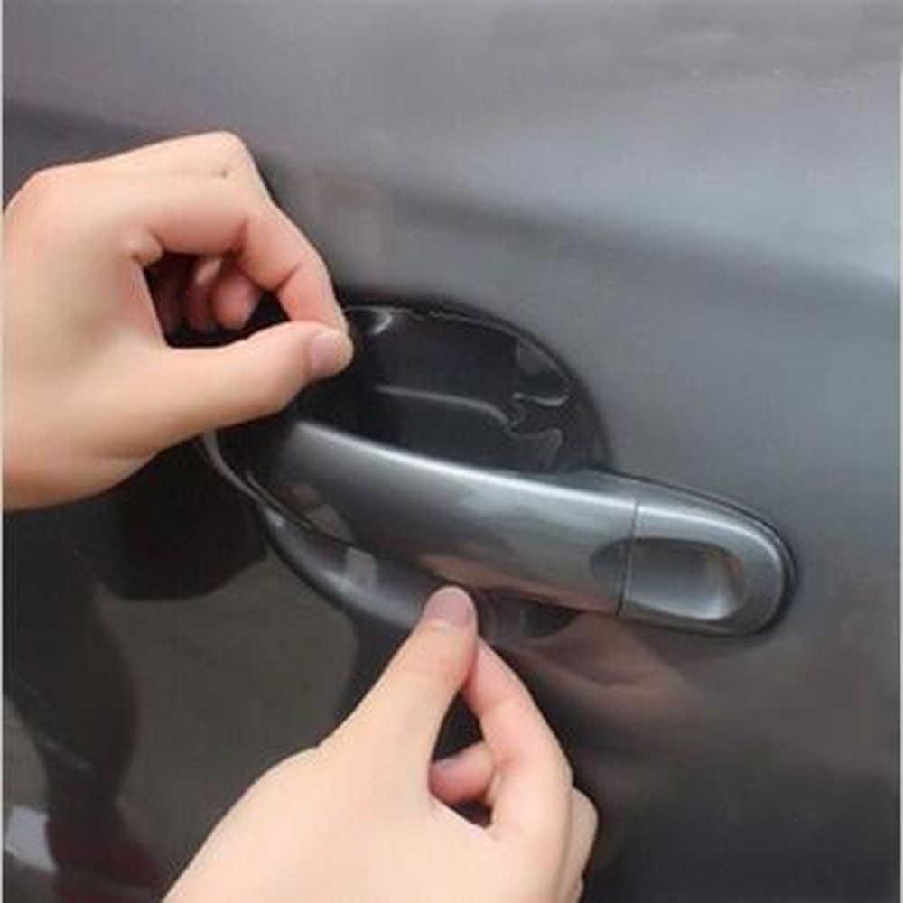 Etiqueta engomada invisible de la puerta del coche del estilo del coche 4 piezas para Hyundai elantra ix35 solaris accent i30 ix25 i20 Accesorios