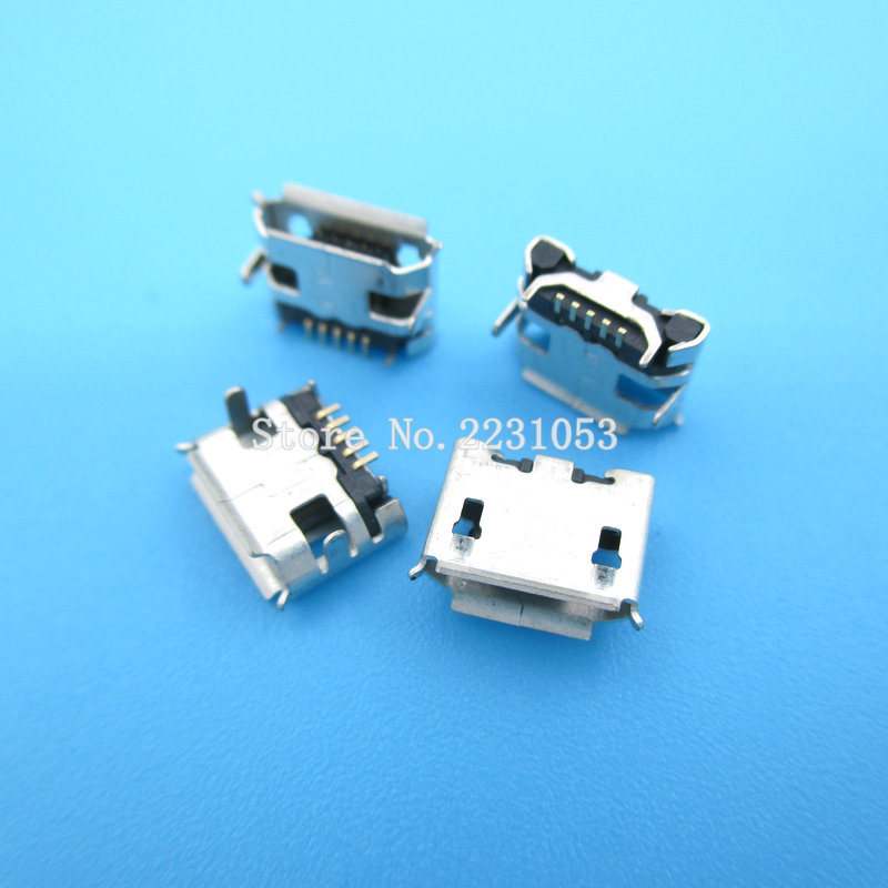 20PCS/LOT Micro USB 5P,5-pin DIP Micro USB Jack,5Pins Micro USB Connector Tail Charging socket