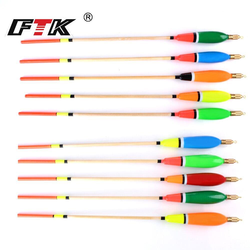 FTK Fishing Float Barguzinsky Fir Floats 5Pcs/Lot Float 2/3/4/6g Mix Color For Carp Fishing