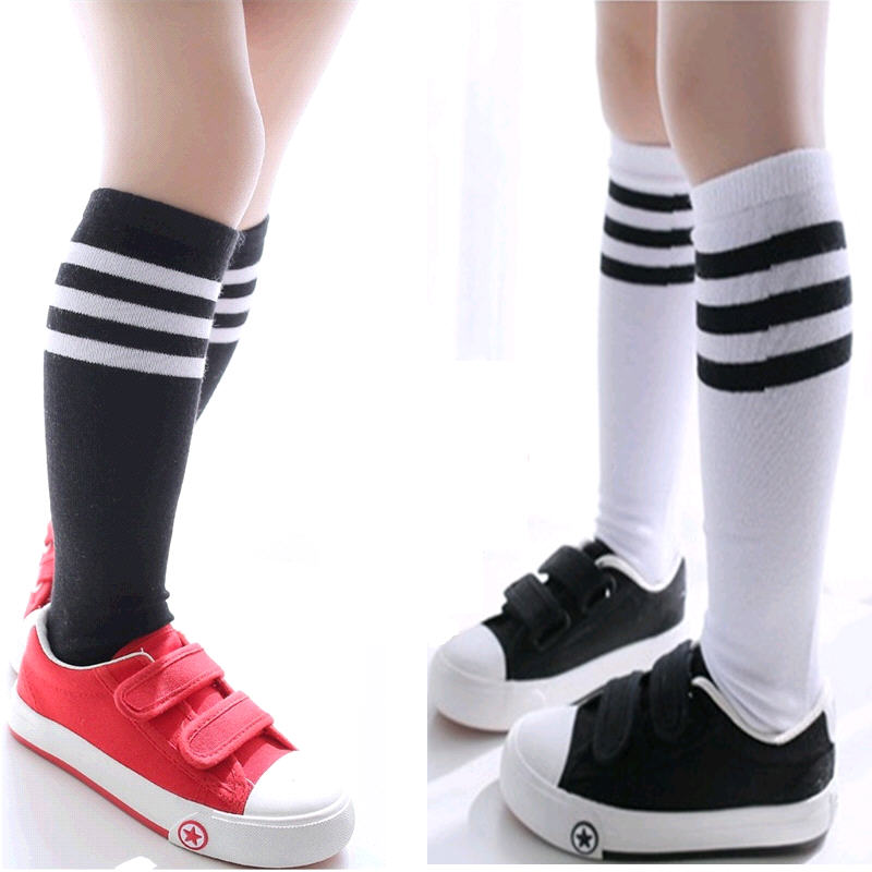 Wholesale 10Pairs Lot Cheapest Students Striped Knee High