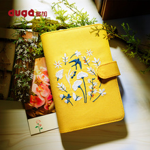 2019 Yellow Spring Swallow Embroidery Loose Leaf Planner Gold Sprial Ring Binder Notebook A5 A6 Diary Office Supplies