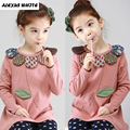 2017 Spring Autumn Korean Floral Girls Children's Clothes Basic Shirts Tops Baby Kids Long Sleeve Casual T-Shirt Girl