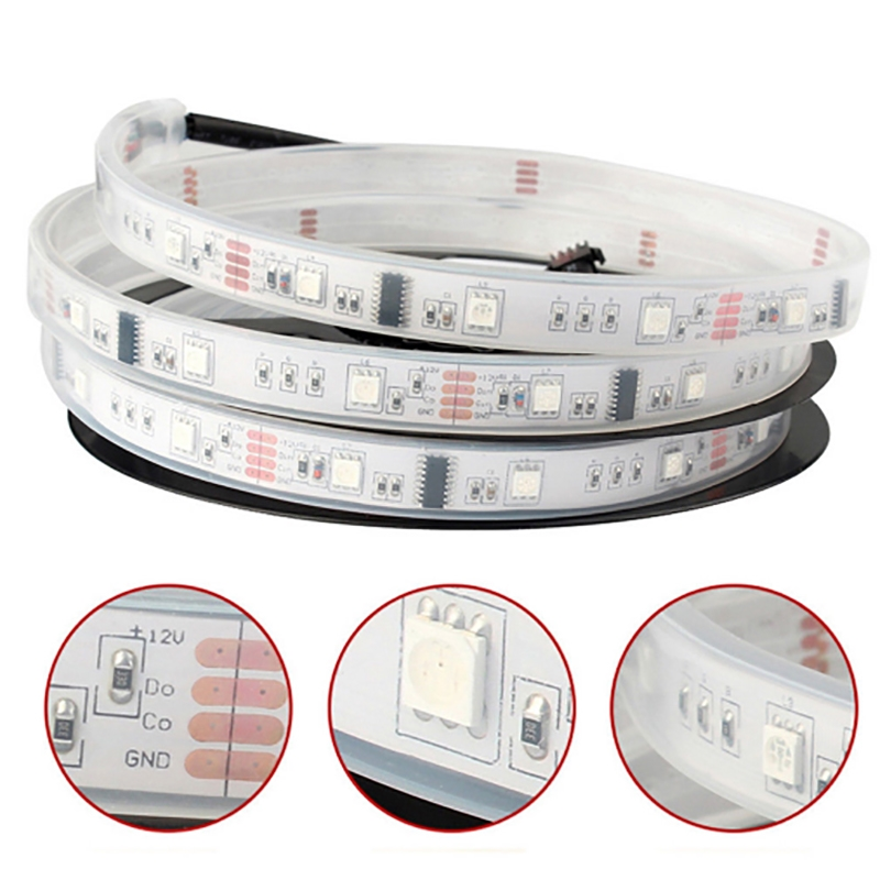 LED Strip light ws2812 2812b WS2811 2811 IC 5V 12V Programmable Individual Addressable RGB 5050 SMD image