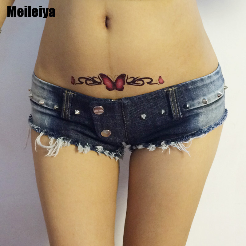 1PCS Zipper Open Crotch Sexy High Cut Micro MINI Jeans Hot Shorts Double Button Low Rise Waist Booty Short Erotic Culb Wear new denim mesh spliced fishnet sexy jeans shorts high cut vintage cute bikini low rise waist micro mini hot short culb wear f35