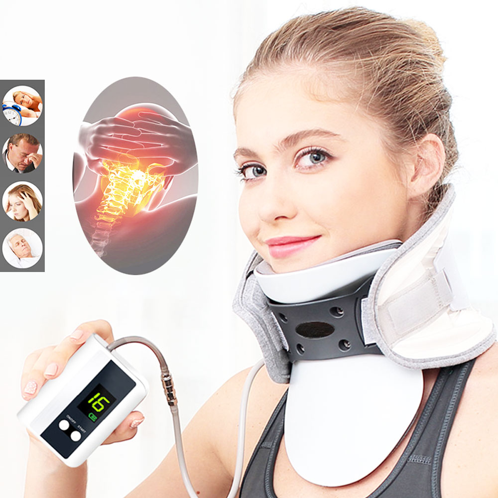 Медицинский корректор для коррекции шейных позвонков, надувной бандаж для поддержки шеи, интеллектуальное управление, растягивающийся кор