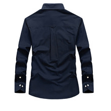 Brand Clothing Men Shirts Cotton Long Sleeve Camiseta Masculina Denim Shirt Men Army  Military Casual   Size S-4XL 5XL A3056
