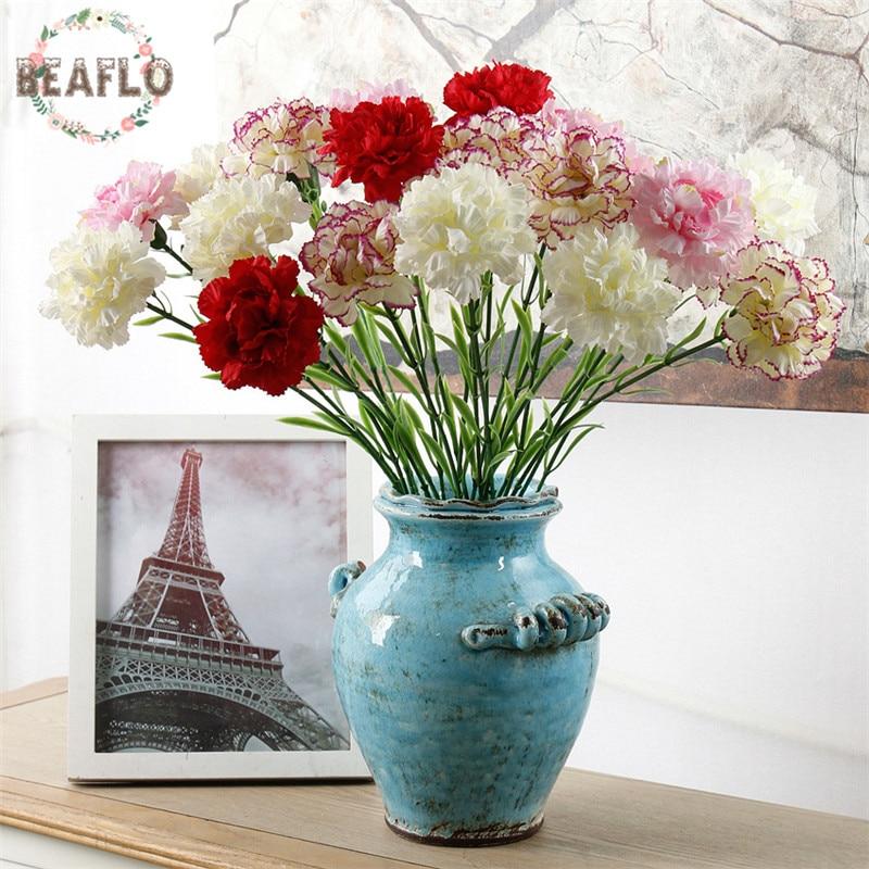 1 Pc Diy Frische Künstliche Blume Nelke Seide Blume Gefälschte Pflanzen Für Mutter Der Tag Home Party Dekoration 7 Farben