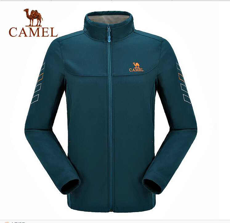 Camel Outdoor Men's Soft Shell Jacket Windproof Warm Climbing Camping Travel Jungle Off-road Softshell A6W2T7103 multifunctional professional handle pulley roller gear outdoor rock climbing tyrolean traverse crossing weight carriage fit