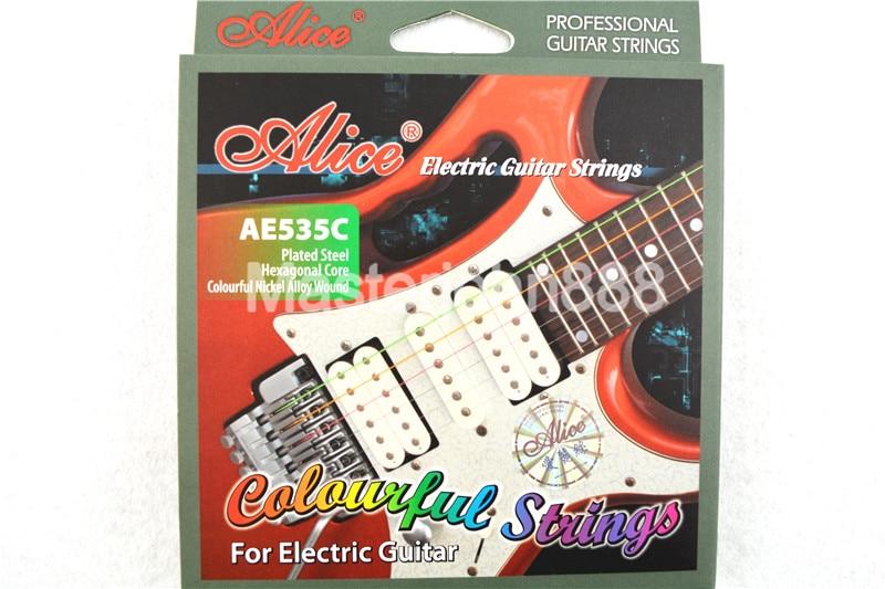 Alice AE535C Kleurrijke elektrische gitaarsnaren Verzilverd en - Muziekinstrumenten - Foto 1