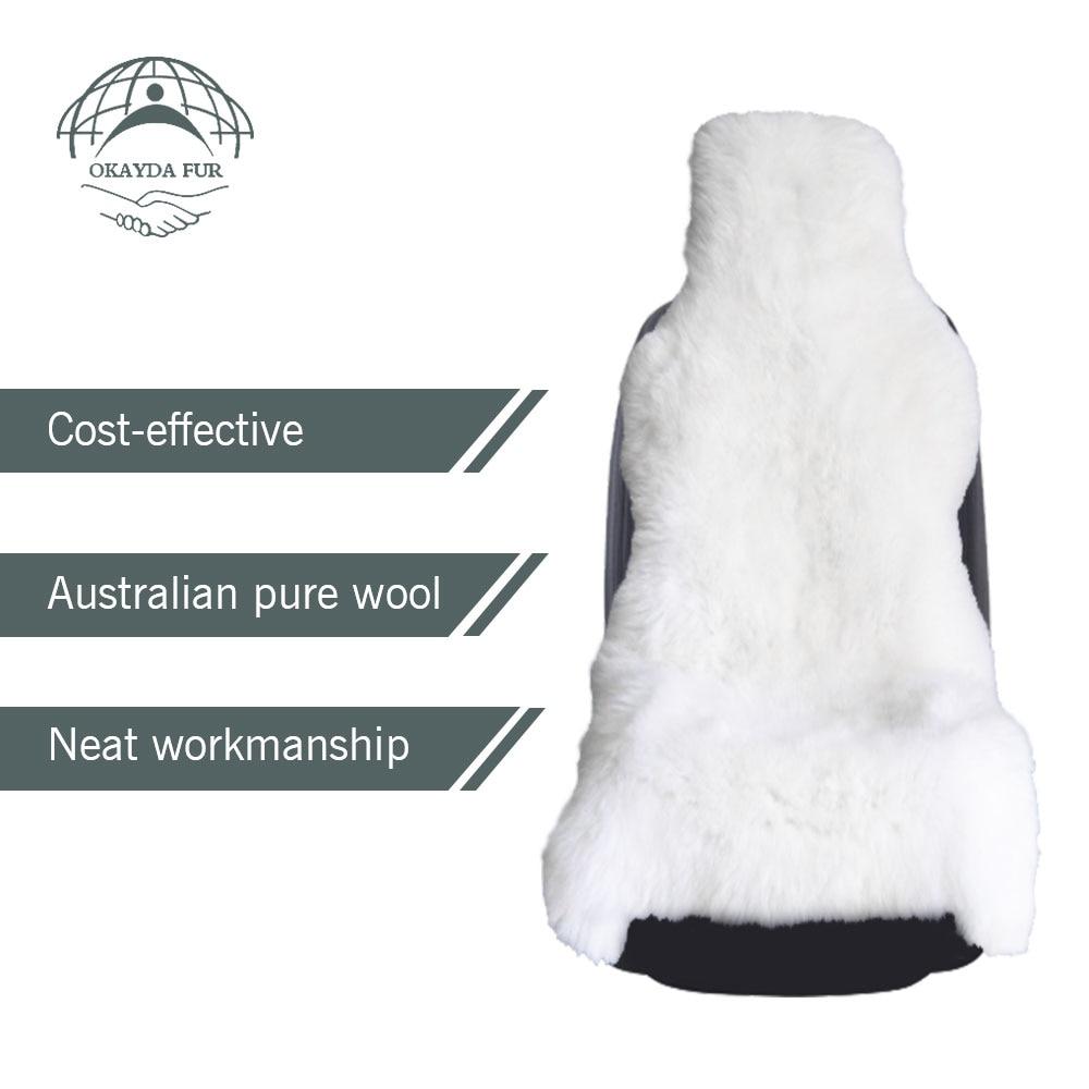 OKAYDA RU 100% Looduslik karusnahk Austraalia lambahari autoistme - Auto salongi tarvikud - Foto 5