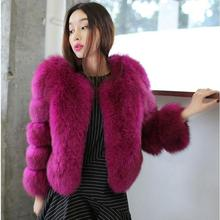 2016 High Quality Winter Long Sleeves Faux Fur Coat Solid Women s Short Design Outer Cape