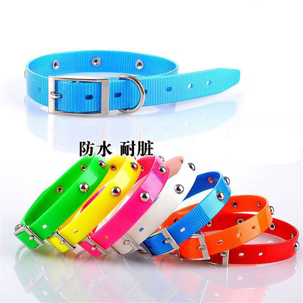 Waterproof LED Puppy Collar Night Walking Pet Dog Collars Solid Puppies Lighting Necklace Fashion Led Dogs Warning Safety Collar