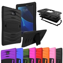 цена на For Samsung Galaxy Tab A T280 T285 7.0 inch Tablet Armor Heavy Duty Rugged Impact Hybrid Back Shockproof Case Kickstand Cover