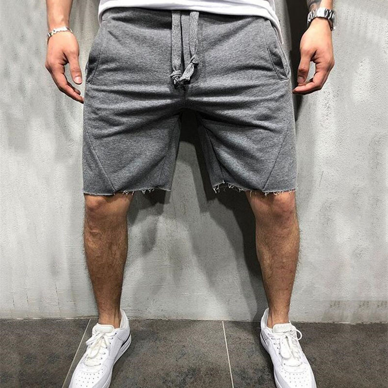 YEMEKEMen 2019 Summer Loose Cotton   Shorts   Man Gyms Fitness Knee Length Sweatpants Male Jogger Workout Brand   Short   Pants