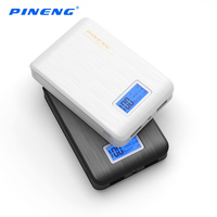 Original PINENG Mobile Power Bank 10000mAh Dual USB External Battery Charger Portable Powerbank With LED Flashlight