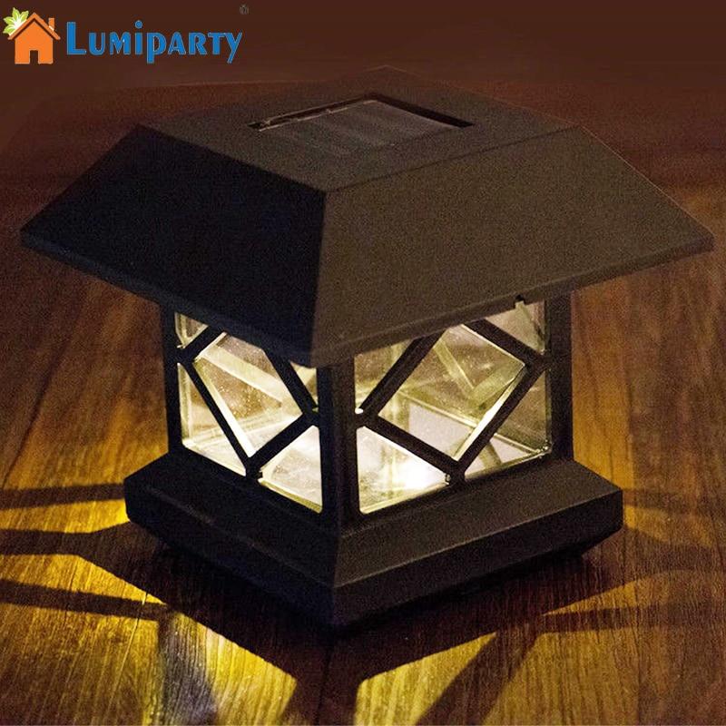SOLAR LED DECK CAP POST LIGHTS GARDEN OUTDOOR DECK CAP SQUARE LED FENCE LIGHTS