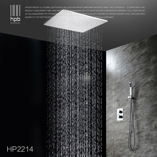 ceiling mounted shower head. HPB Brass Bathroom Thermostatic Water Mixer Ceiling Mounted Shower Head Bath Rain Set Faucet Torneira W