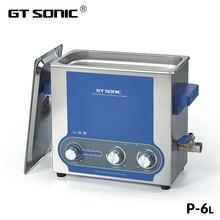 GTSONIC P6 Ультразвуковой очиститель 6л с 45 Вт-150 Вт Мощность Регулируемая нагревательная корзина механический контроллер ультразвуковая ванна