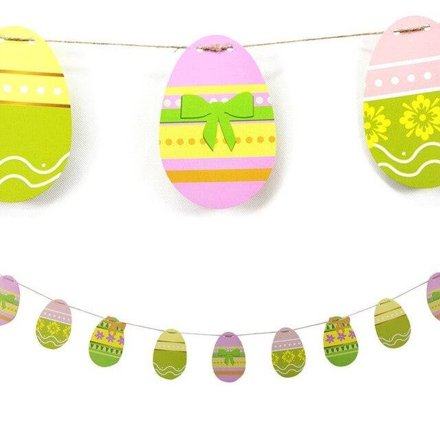 Aliexpress.com : Buy 10ft 16 Eggs Paper Easter Egg Bunting Easter ...