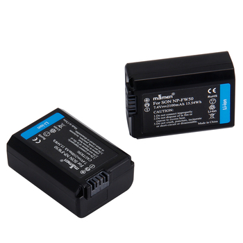 2pcs 2100mAh NP-FW50 NP FW50 Digital Camera Battery +LCD USB Dual Charger for Sony NEX-3 a7R Alpha a6500 a6300 a6000 a5000 a3000 1