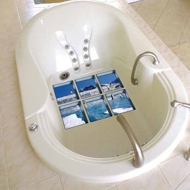 Nuovo 3D Prodotti per il Bagno 6 pz 13x13 cm Vasca Da Bagno sticker 3D Antiscivolo Vasca Da Bagno Appliques vasca da bagno sticker Vasca Bagno Decalcomania PVC Murale