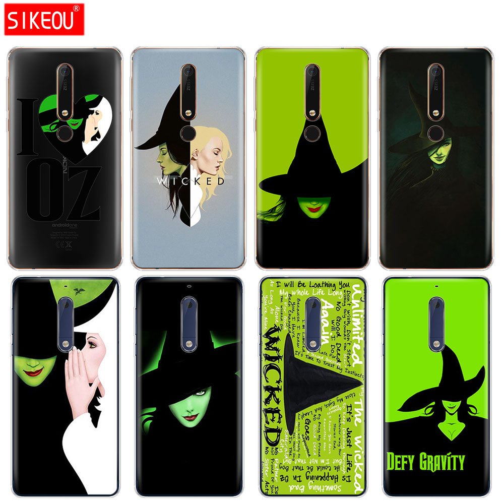 silicone cover phone case for Nokia 5 3 6 7 PLUS 8 9 Nokia 6.1 5.1 3.1 2.1 6 2018 Broadway Musical Wicked Lyrics