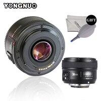 Светодиодная лампа для видеосъемки YONGNUO YN50mm объектив F1.8 с фиксированным фокусным расстоянием большой апертурой Автофокус Объектив для Nikon ...