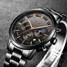 LIGE9877 Fashion Business Watch Men's Stainless