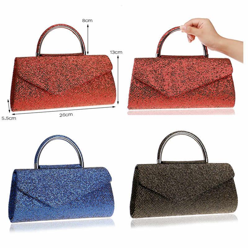 SEKUSA/модные женские клатчи с ручкой, расшитые блестками, вечерние сумки, золотые/красные/синие смешанные Свадебные вечерние сумки, открытые стильные сумки